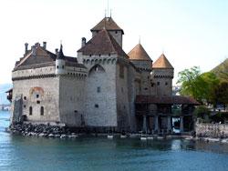 château de Chillon vue du lac